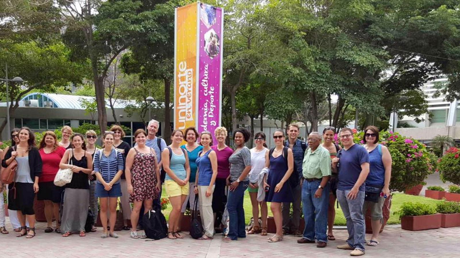 Teachers on study abroad trip in South America
