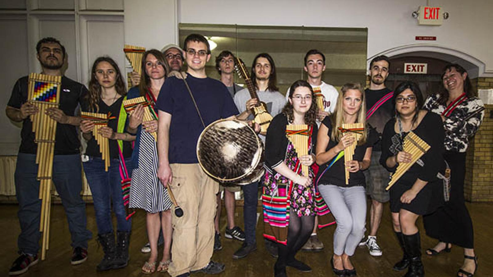 picture of the Andean Ensemble 2016 class